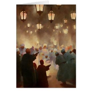 Ramadan scene from 1902 -painting greeting card