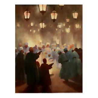 Ramadan scene from 1902 -painting postcard