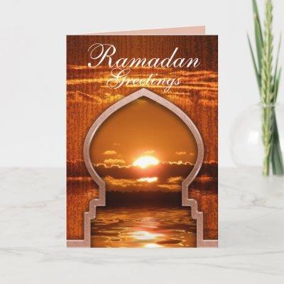 Ramadan Sunset Greetings Card card
