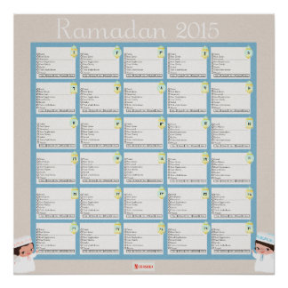 Ramadhan Daily Checklist For BOYS Poster
