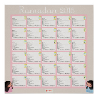 Ramadhan Daily Checklist For GIRLS Poster