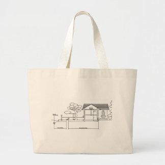 ramal planta arquitetura desenho casa de perfil bolsas de lona