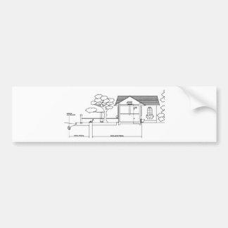 ramal planta arquitetura desenho casa de perfil adesivos