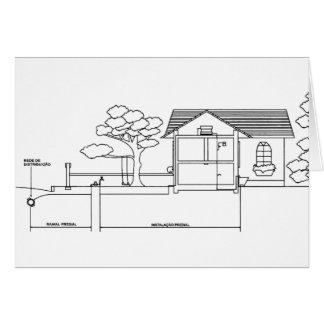 ramal planta arquitetura desenho casa de perfil cartão