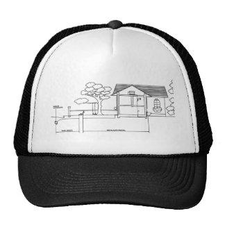 ramal planta arquitetura desenho casa de perfil boné