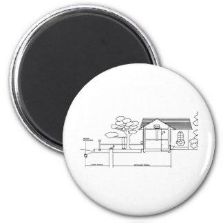 ramal planta arquitetura desenho casa de perfil imãs de refrigerador