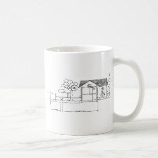 ramal planta arquitetura desenho casa de perfil canecas
