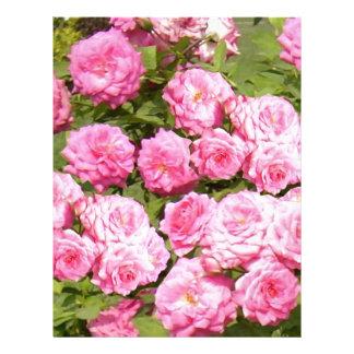 Ramas color de rosa membrete
