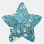 Ramas con el flor de la almendra - Van Gogh Calcomania Forma De Estrella Personalizada