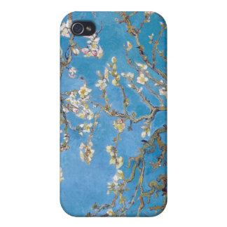Ramas con el flor Van Gogh de la almendra iPhone 4 Carcasa