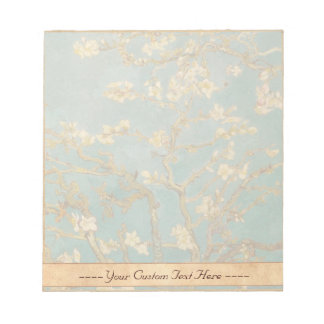 Ramas con la pintura de Van Gogh del flor de la al Libretas Para Notas