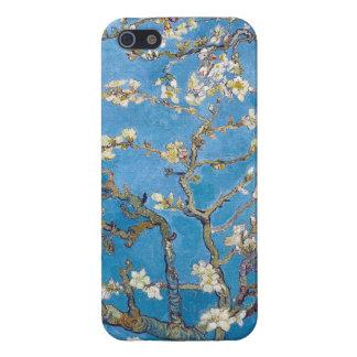Ramas con la pintura de Van Gogh del flor de la al iPhone 5 Carcasas