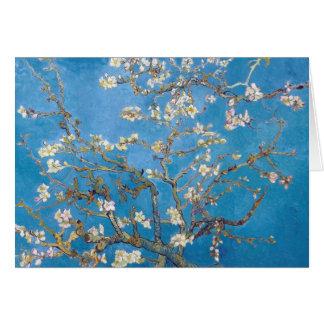 Ramas con la pintura de Van Gogh del flor de la al Tarjeton