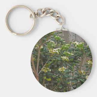 Ramas de árbol de florecimiento llavero redondo tipo pin