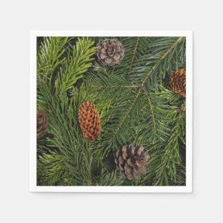 Ramas de árbol de navidad servilleta desechable