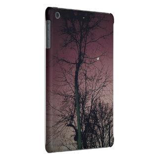 Ramas de árbol desnudas de la oscuridad color de funda para iPad mini retina
