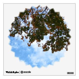 Ramas de árbol en el viento vinilo adhesivo