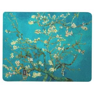 Ramas de árbol florecientes de almendra de Vincent Cuaderno Grapado