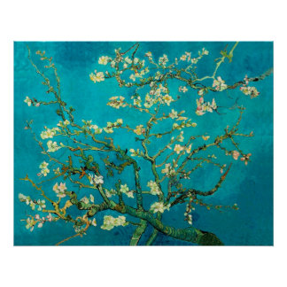 Ramas de árbol florecientes de almendra de Vincent Posters