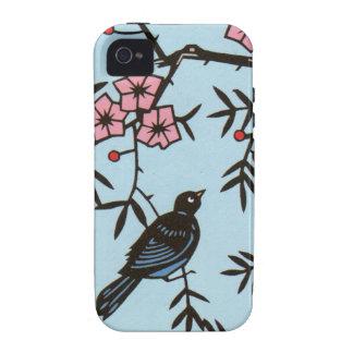 Ramas de árbol negras de la flor de cerezo del Case-Mate iPhone 4 fundas