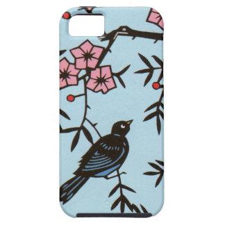 Ramas de árbol negras de la flor de cerezo del iPhone 5 fundas