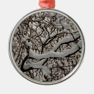Ramas de árbol nevadas ornamentos para reyes magos