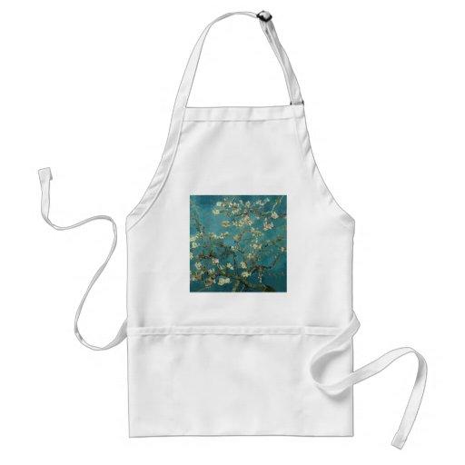 Ramas de la almendra de Van Gogh en la floración Delantal