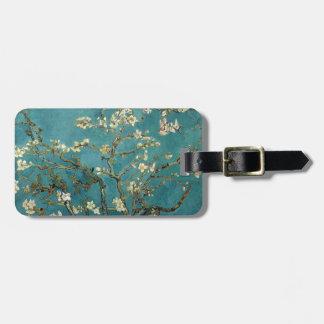 Ramas de la almendra de Van Gogh en la floración Etiquetas Maleta