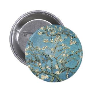 Ramas de la almendra de Vincent van Gogh el | en Pin Redondo De 2 Pulgadas