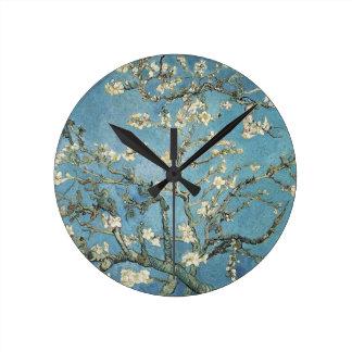 Ramas de la almendra de Vincent van Gogh el | en Reloj Redondo Mediano