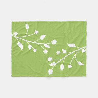 Ramas de la flor verde y blanca
