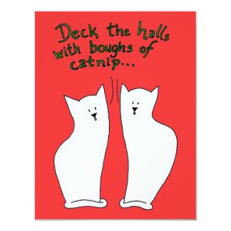 Ramas de la invitación del Catnip (personalizable)