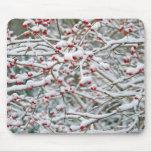 Ramas de la nieve del navidad tapete de ratones