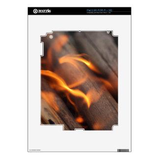Ramas de madera ardientes calcomanía para el iPad 2