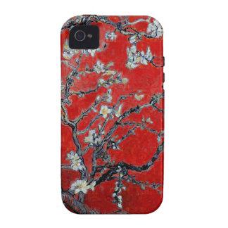 Ramas de Vincent van Gogh con el flor de la almend Vibe iPhone 4 Carcasas