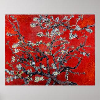 Ramas de Vincent van Gogh con el flor de la almend Poster