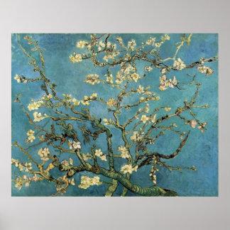 Ramas de Vincent van Gogh con el flor de la Póster