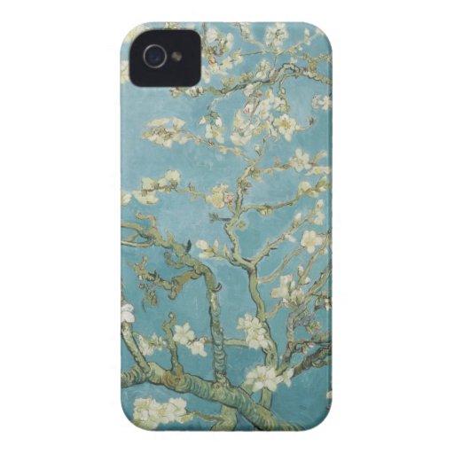 Ramas de Vincent van Gogh del árbol de almendra Case-Mate iPhone 4 Funda