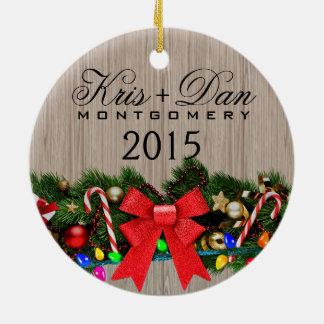 Ramas del blonde de madera del granero el del ac ornamentos de navidad