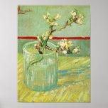 Ramas del flor de la almendra de Van Gogh en un de Poster