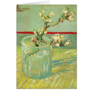 Ramas del flor de la almendra de Van Gogh en un de Tarjeton
