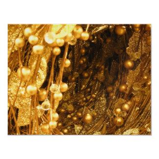 Ramas del oro invitación 10,8 x 13,9 cm