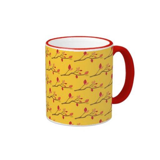 Ramas del otoño tazas de café