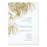 Ramas del pino que casan programa invitación 12,7 x 17,8 cm