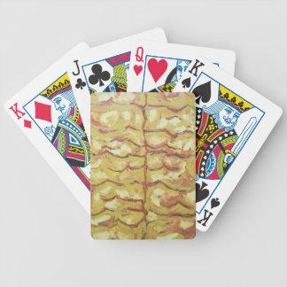 Ramas desnudas del árbol expresionismo abstracto cartas de juego