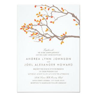 Ramas dichosas que casan la invitación invitación 12,7 x 17,8 cm