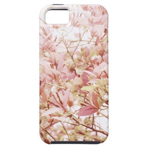 Ramas florales en colores pastel suaves iPhone 5 carcasa