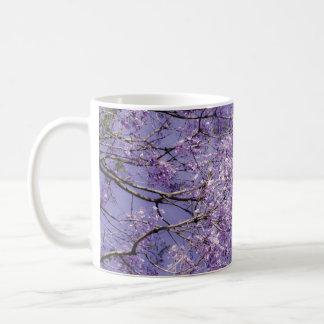 Ramas florales taza de café
