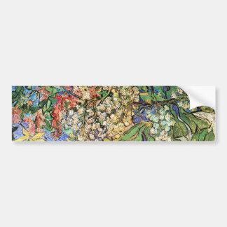Ramas florecientes de la castaña de Vincent van Go Pegatina Para Auto