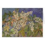 Ramas florecientes de la castaña de Vincent van Felicitación
